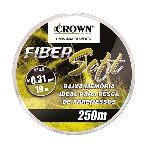 LINHA MONO CROWN FIBER SOFT YELLOW 250M