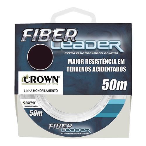 LINHA PARA LEADER FLUOROCARBON FIBER LEADER CROWN C/ 50M