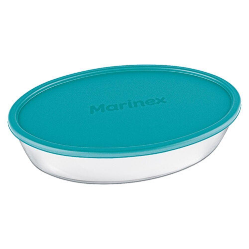 Assadeira Oval Transparente Tampa Color 2,4 L Grande Marinex 16345259
