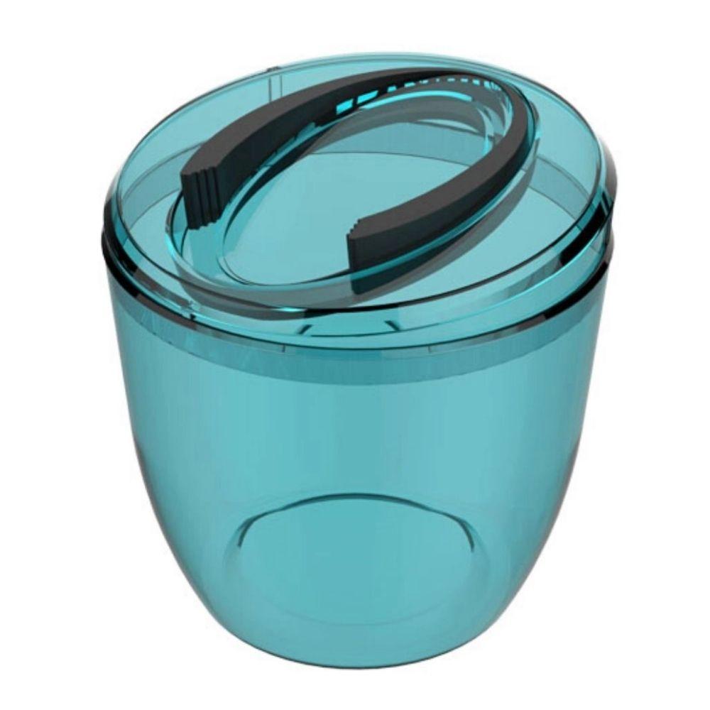 Balde Gelo Acrílico Azul Turquesa Crippa 41205011