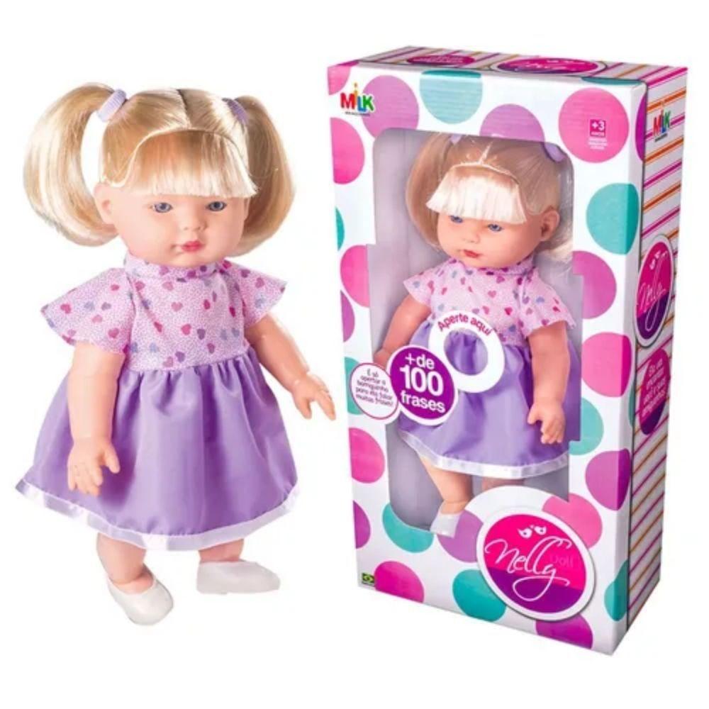 Boneca Nelly Doll Frases Milk192