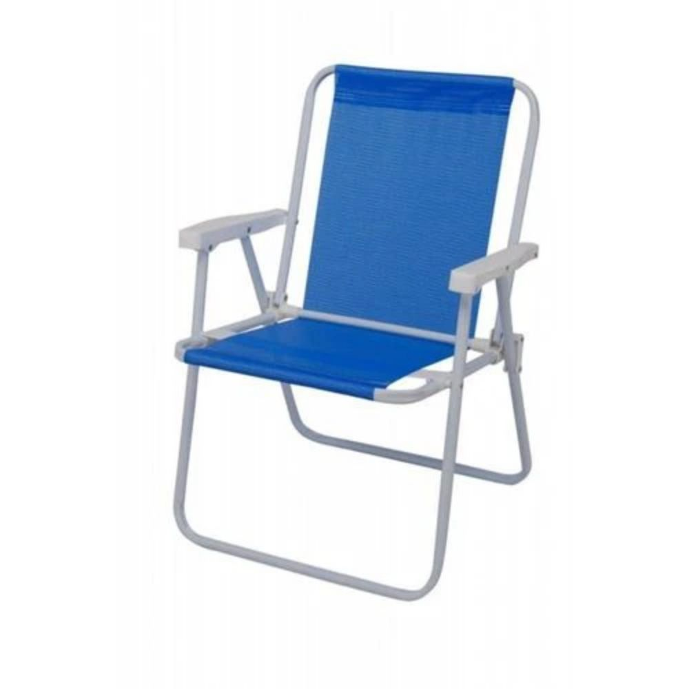 Cadeira Alta Sannet Aço Azul Mor2283