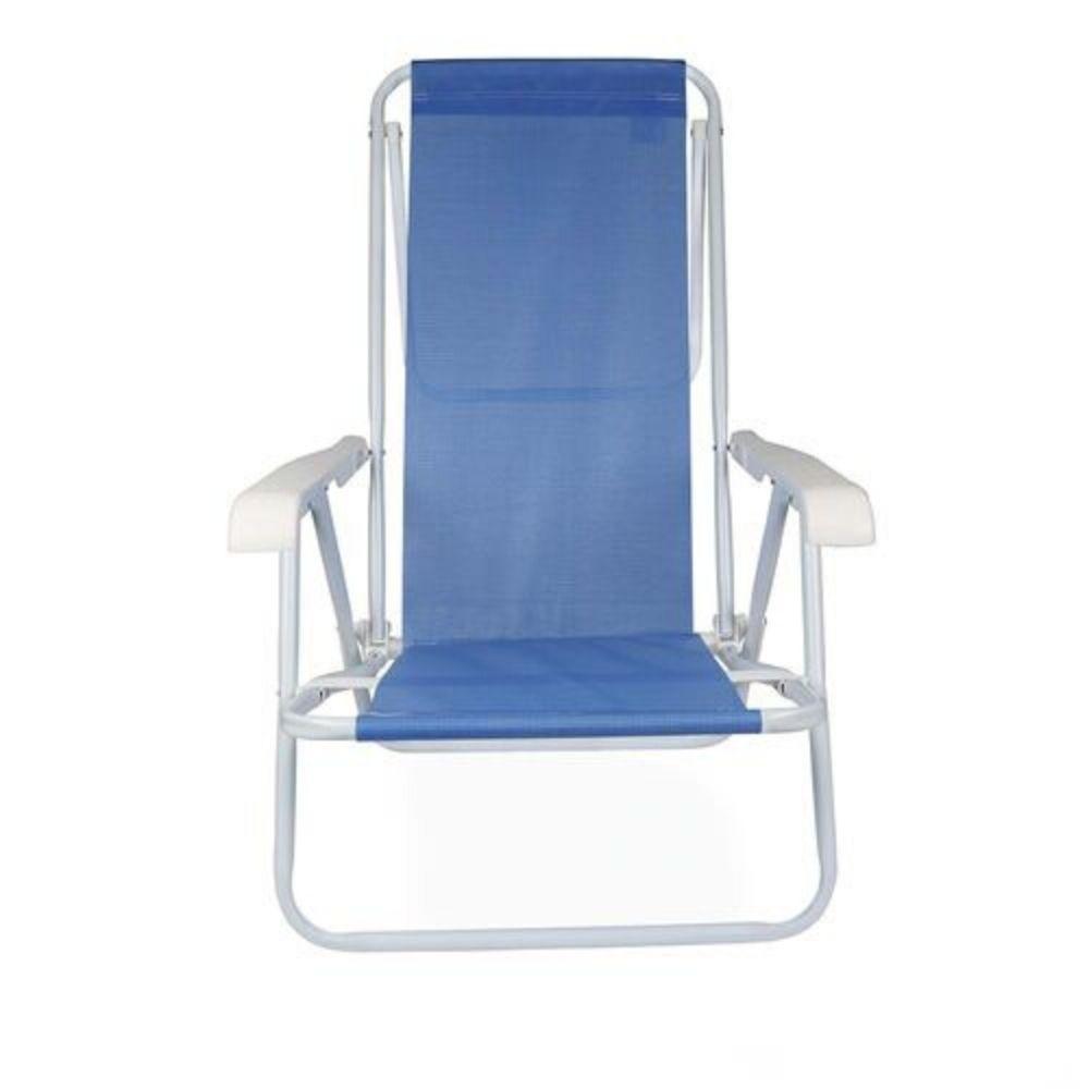 Cadeira Reclinável Azul 8 Posições Mor