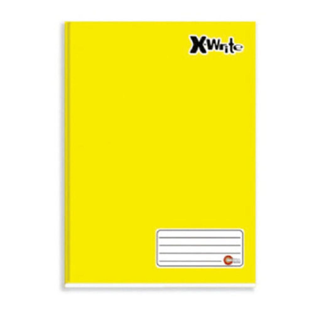 Caderno Universitário Costurado Máxima Xwrite Amarelo 96 Folhas 465