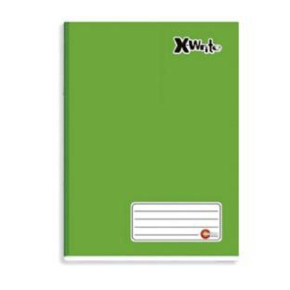 Caderno Universitário Costurado Máxima Xwrite Verde 96 Folhas 465
