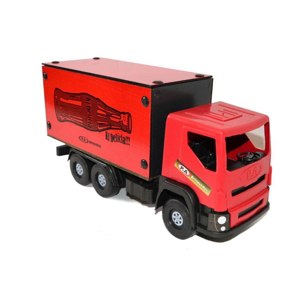 Caminhão Pa Brinquedos Furgão Madeira 06