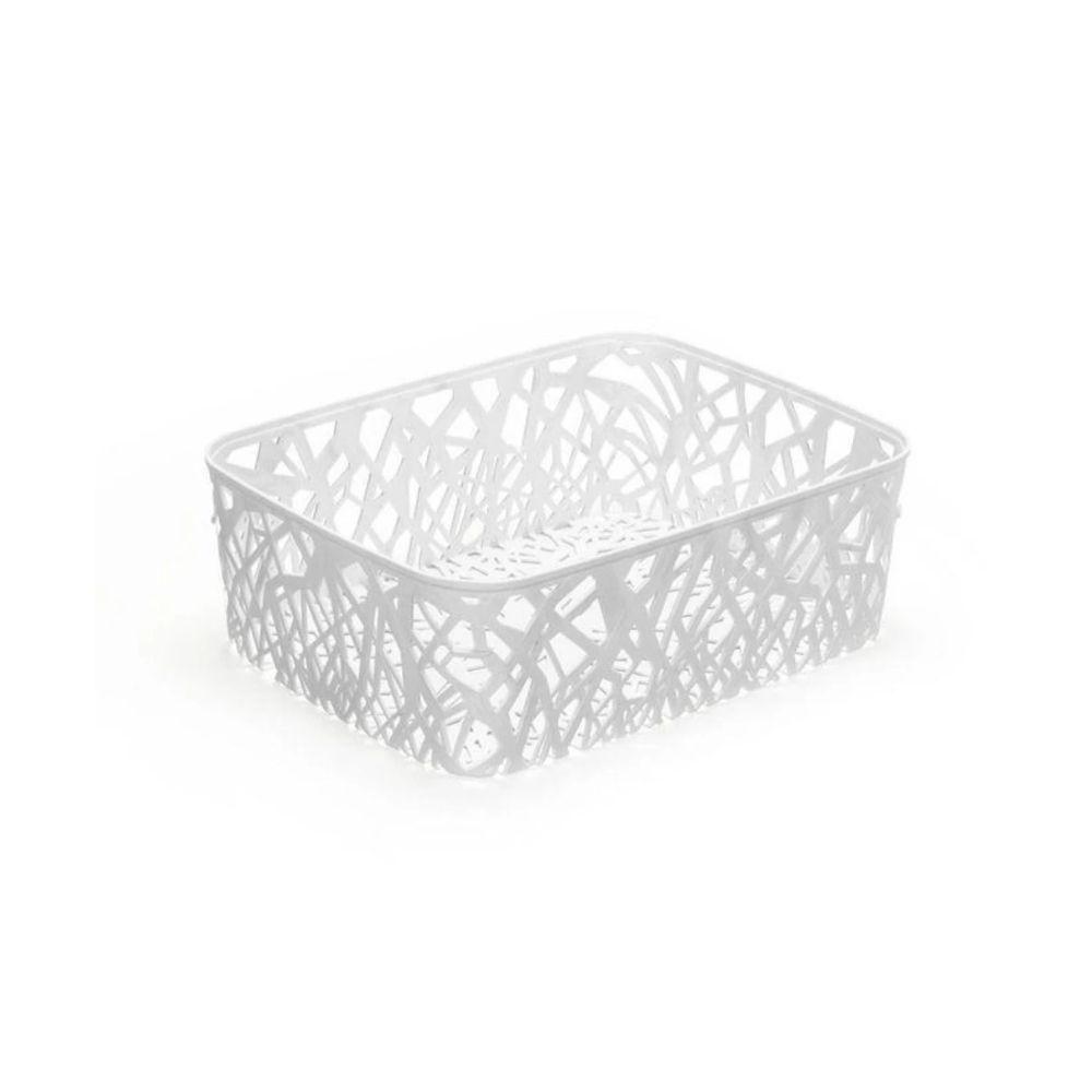 Cesto Mosaico Plástico Branco 11 Litros Arthi 5046