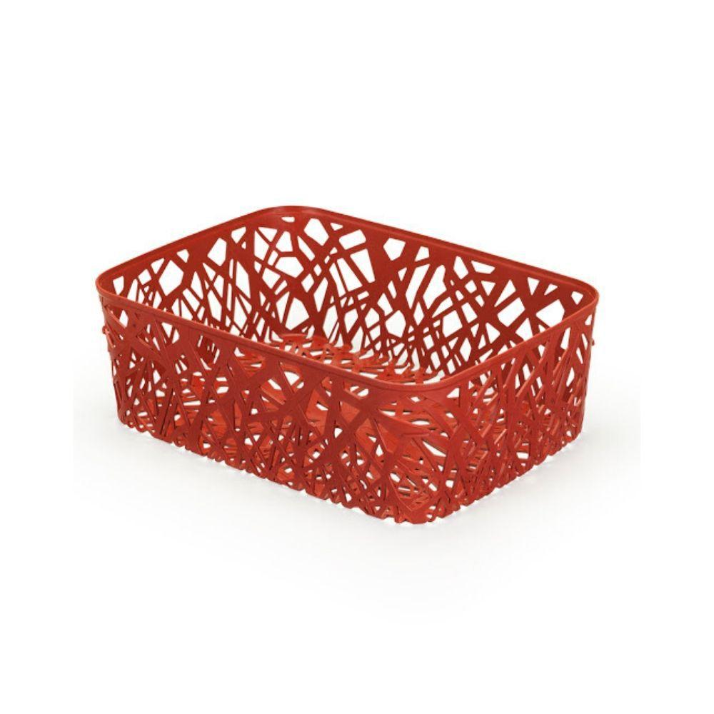 Cesto Mosaico Plástico Vermelho 11 Litros Arthi 8406