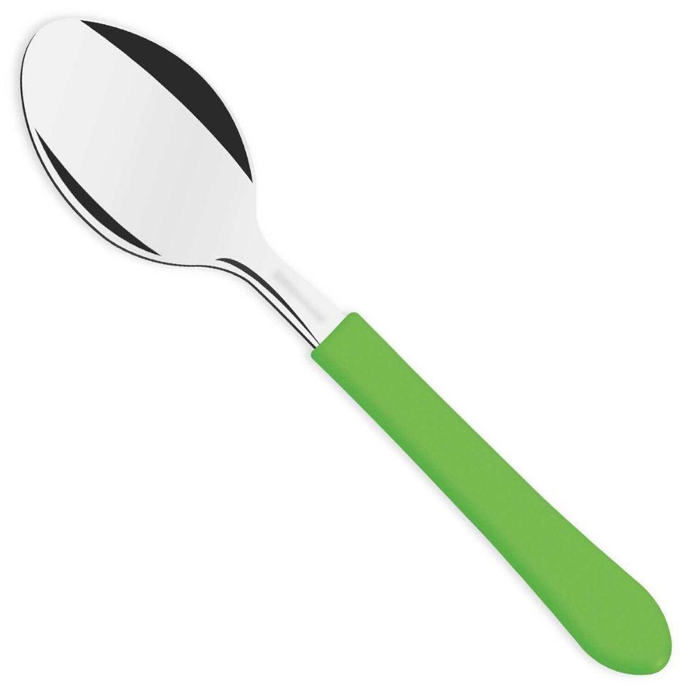 Colher Tramontina Chá Inox Leme Verde 23187420
