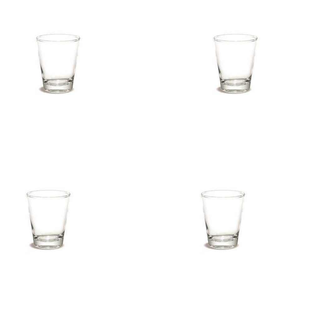 Conjunto Copo Vidro Whisky 4 Peças 370Ml P94-13Bhf