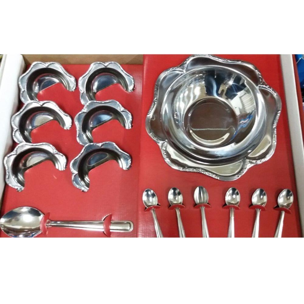 Conjunto Sobremesa Golden Inox 14 Peças 414
