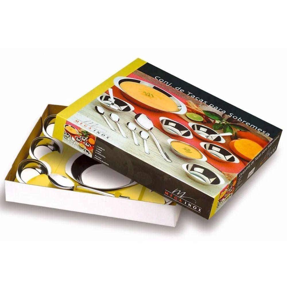 Conjunto Sobremesa Mega Inox 14 Peças 7014