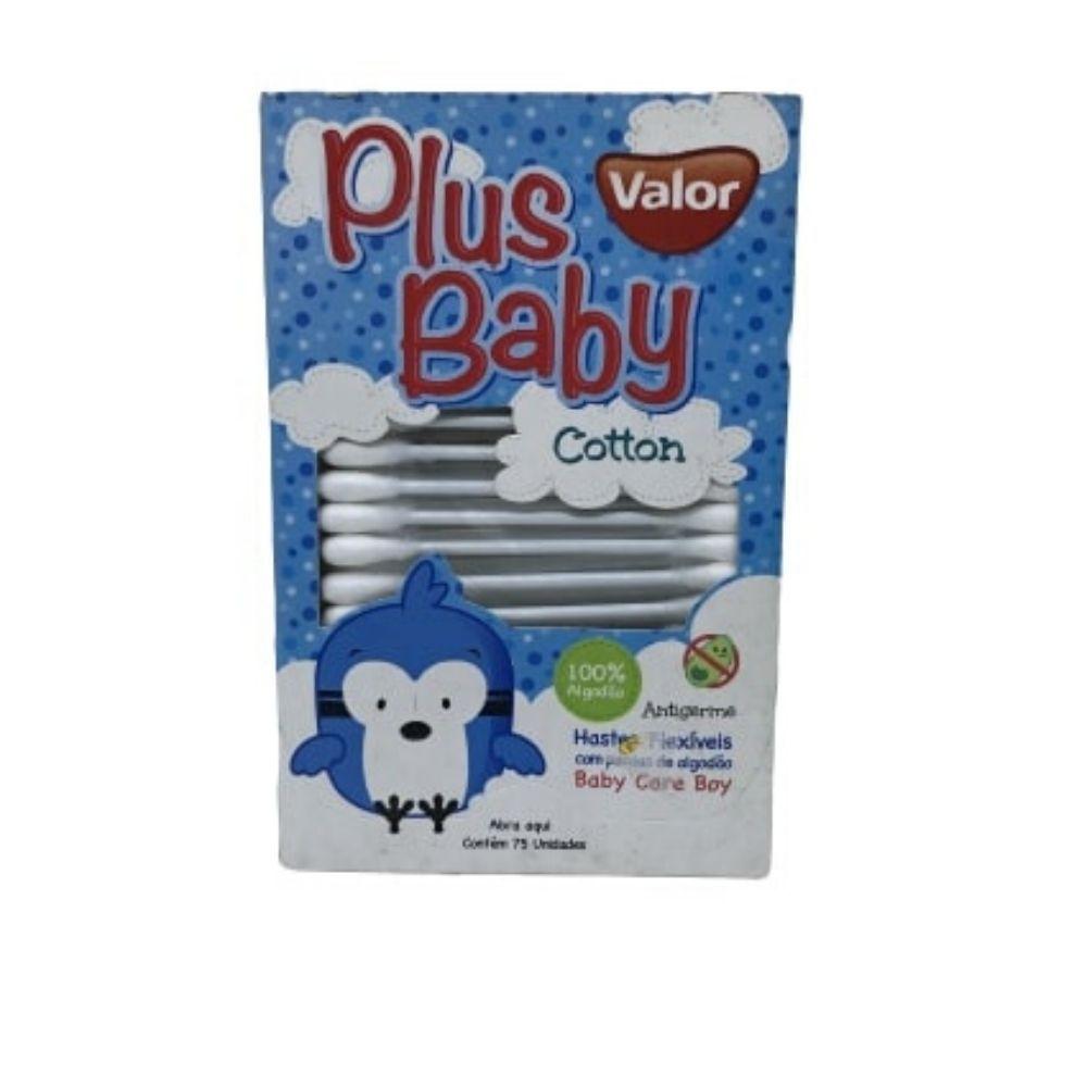 Cotonete Plus Azul 12X75 Valor Baby 430314