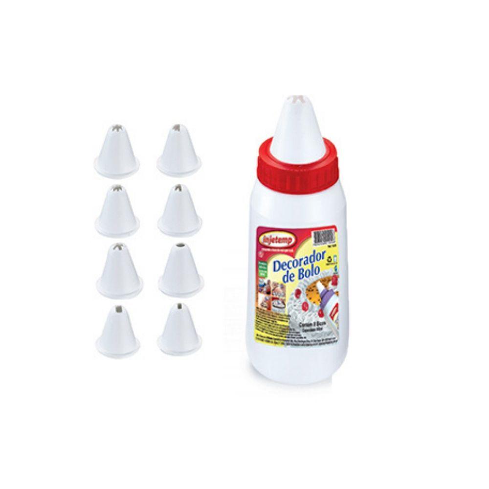 Decorador Bolo Plástico Com 8 Bicos Injetemp 350Ml 100000