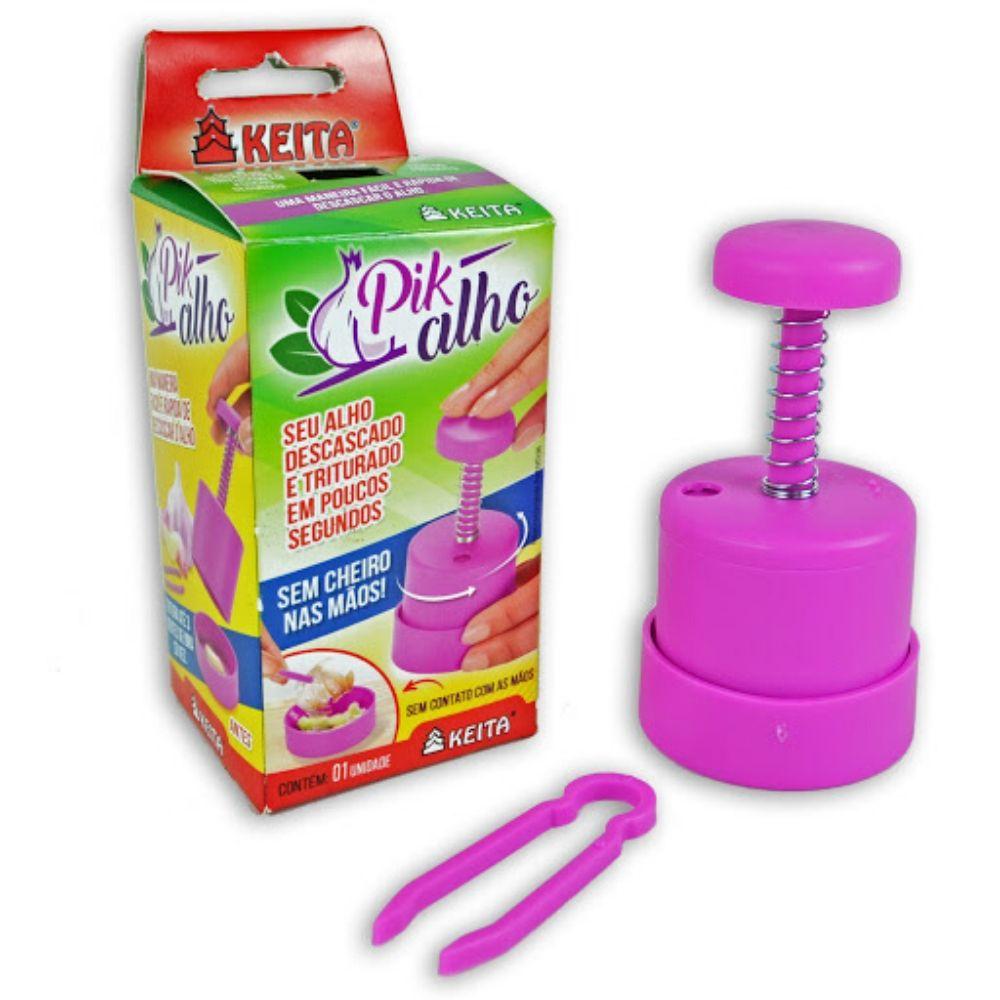 Fatiador Alho Plástico Rosa Keita Pik01