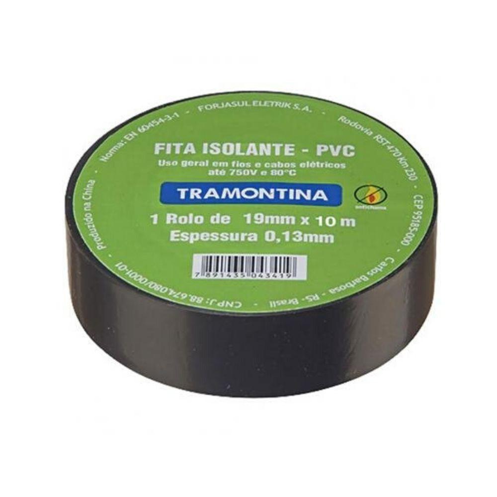 Fita Isolante Preta 19X10M 57540/010 Tramontina