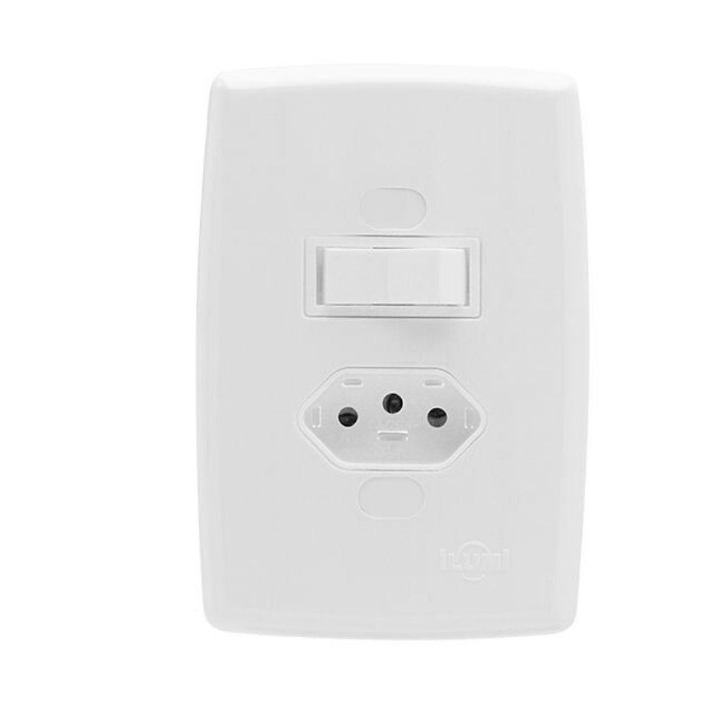 Interruptor Ilumi Safira Simples Tomada 10A 22200