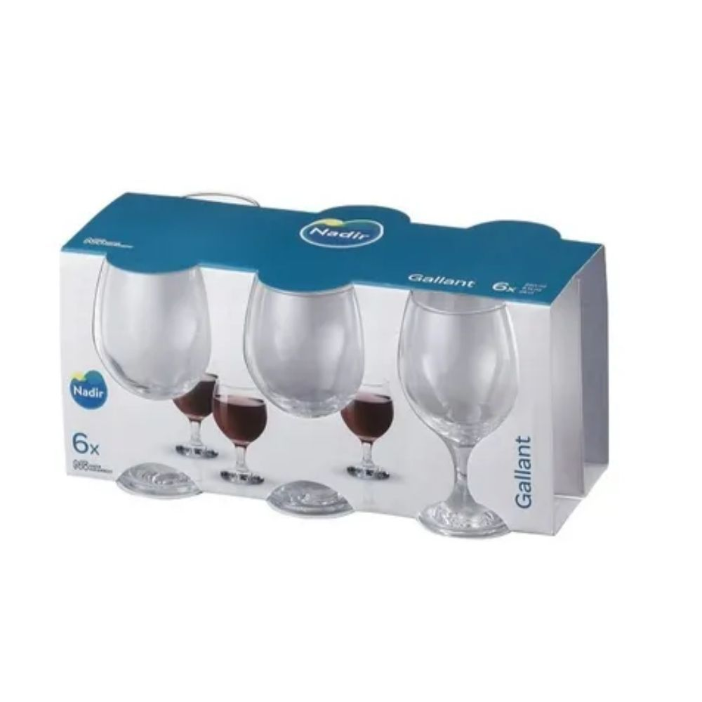 Jogo Taça Vinho Branco 6 Peças 220 Ml Gallant Nadir Figueiredo 7108E
