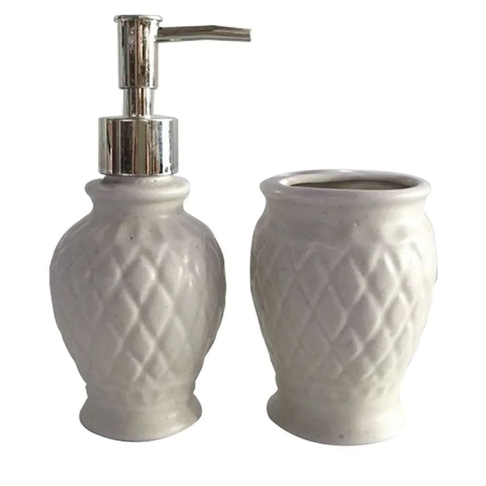 Kit Banheiro Cerâmica Art House 2 Peças