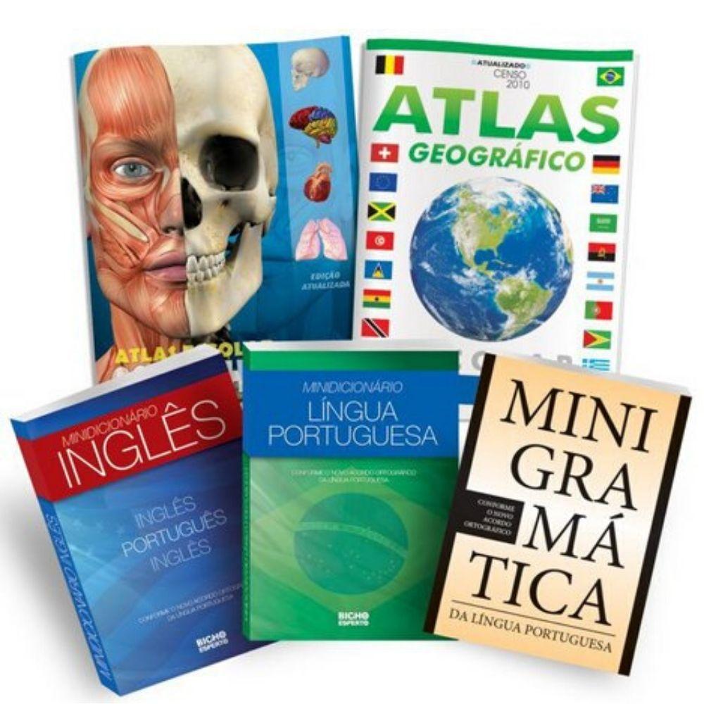 Kit Escolar Bicho Esperto Atlas Dicionario Gram