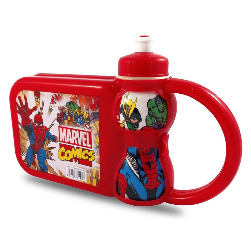 Lancheira Plasduran Garrafa Marvel Comics 440793