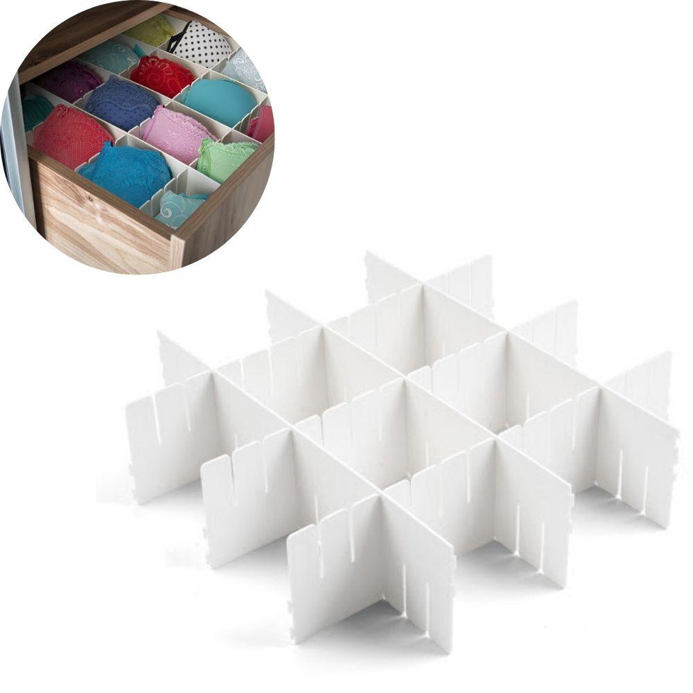 Organizador Plastico Arthi 4 Peças 40X10Cm 5067