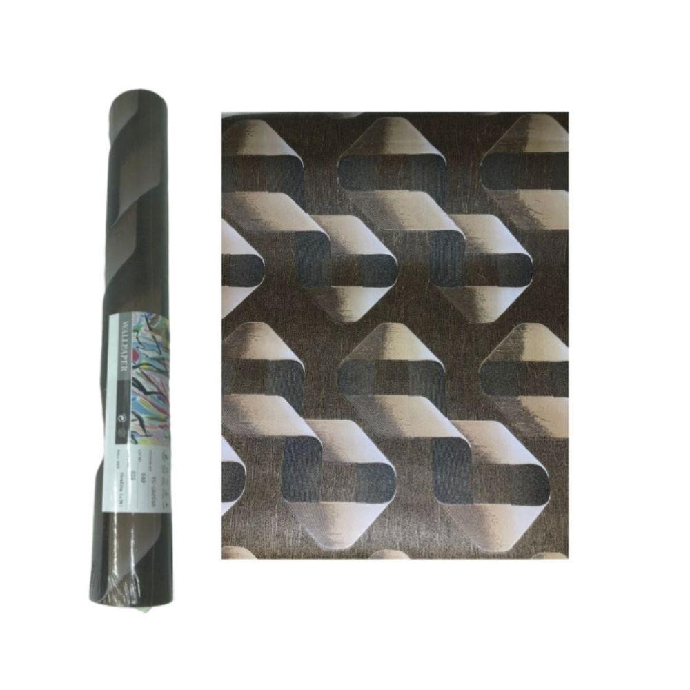 Papel Parede 0,53X10M 3D Decorado Bra14-15-19