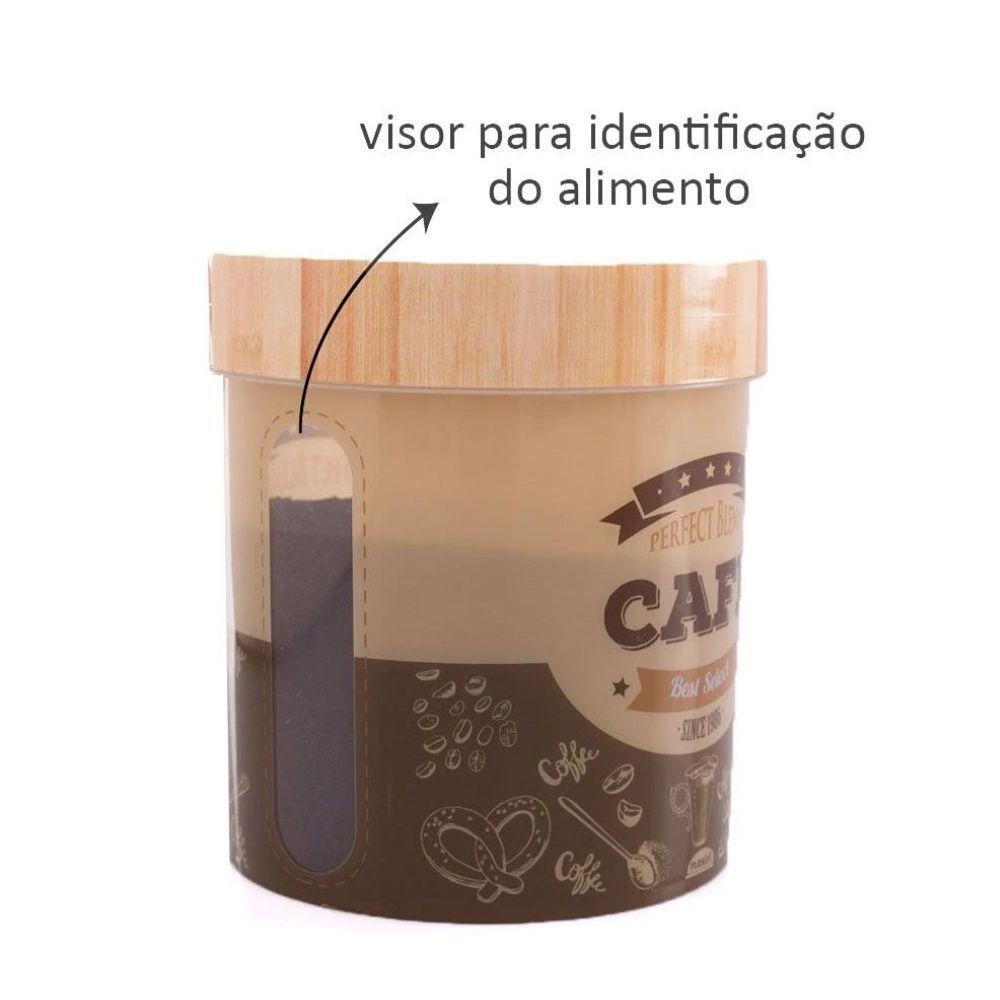 Pote Redondo Alto Café 1,8 Litro Plasutil 003997