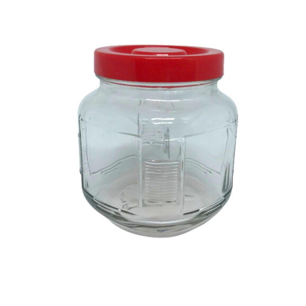 Pote Vidro Transparente Quadrado 650 Ml Indonésia Sqr-06Pl