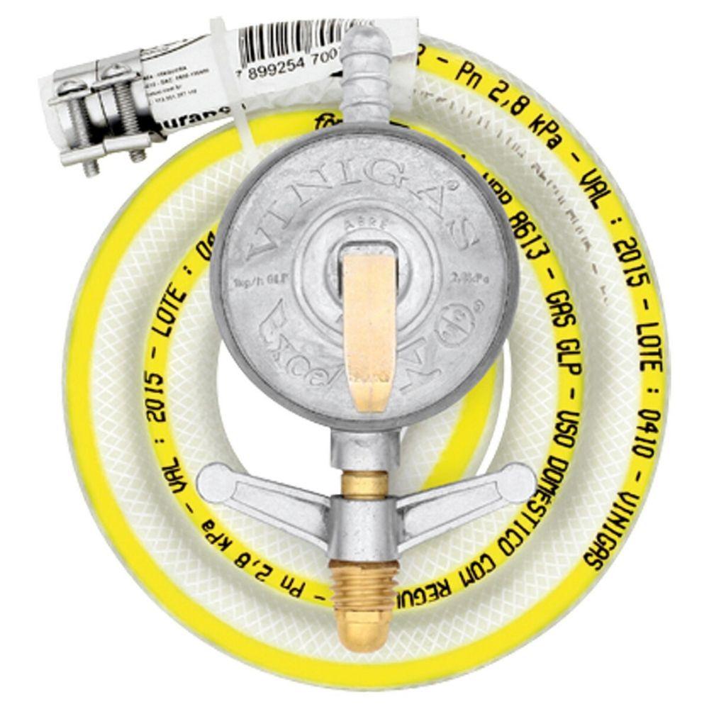 Regulador Pressão Gás Excel Leve Com Registro 0,80M 1Kg/H Vinigas 163-9
