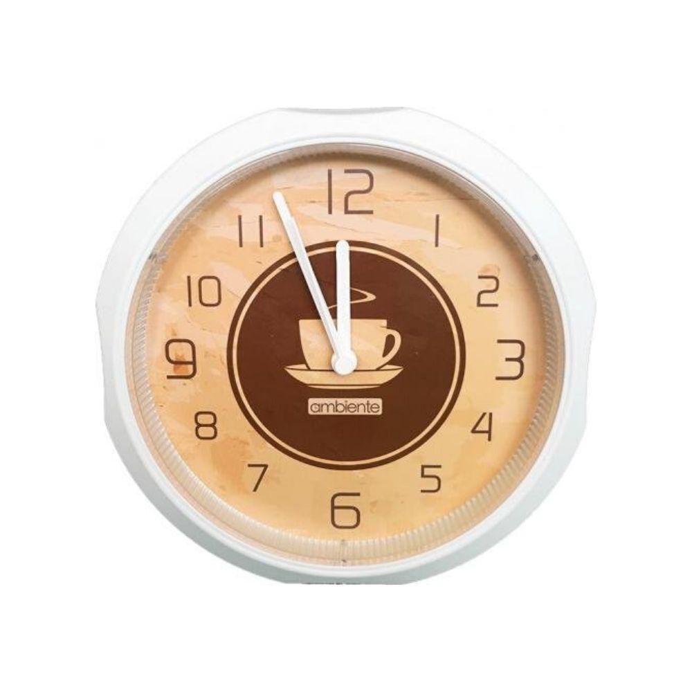 Relógio Parede Decorado Café Branco 1957-141 Ambiente