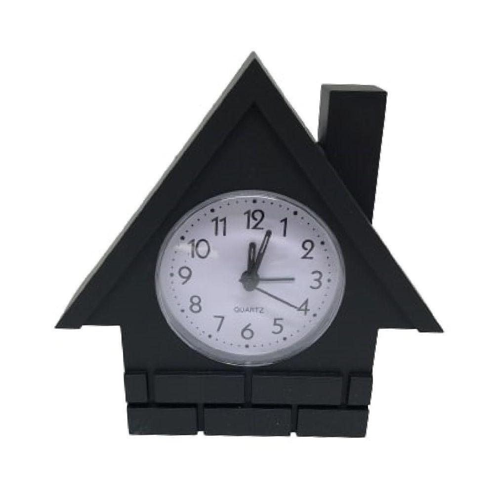 Relógio Mesa Casa Preto Camelo 1384