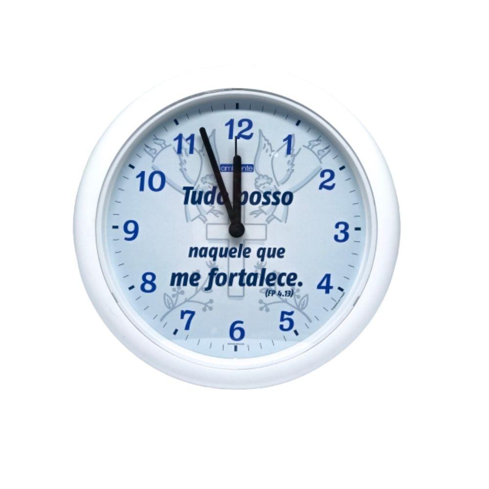 Relógio Parede Versículos Borda Branca 119008-021 Ambiente
