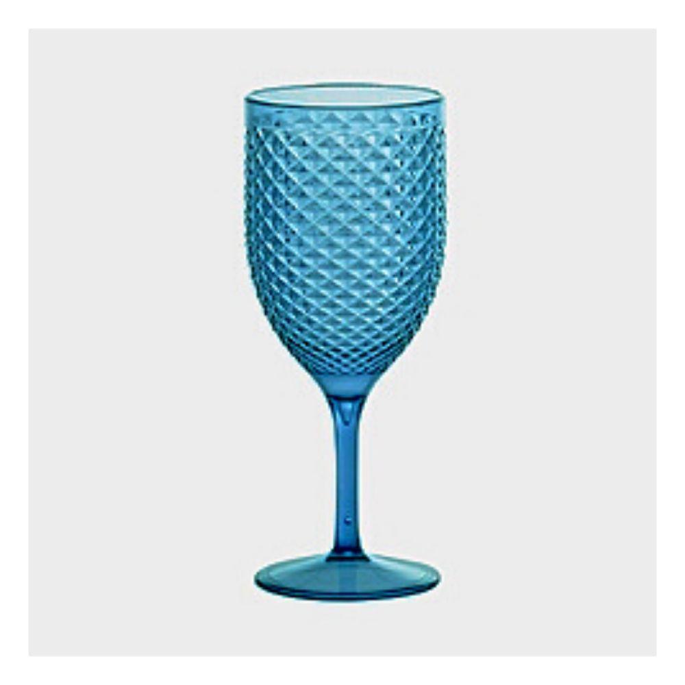 Taça Paramount Luxxor Vinho Acrílico Vd Turq 480Ml 1589