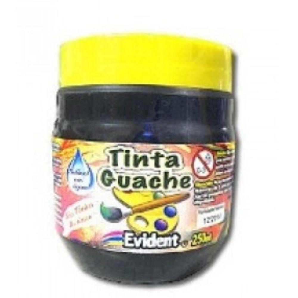 TINTA GUACHE PRETO 250ML 34401  EVIDENT