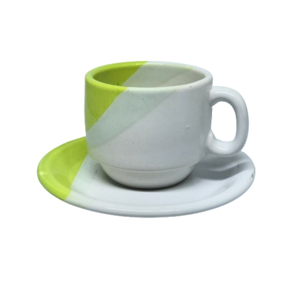 Xícara Porcelart Pires Chá Branco Vd 609