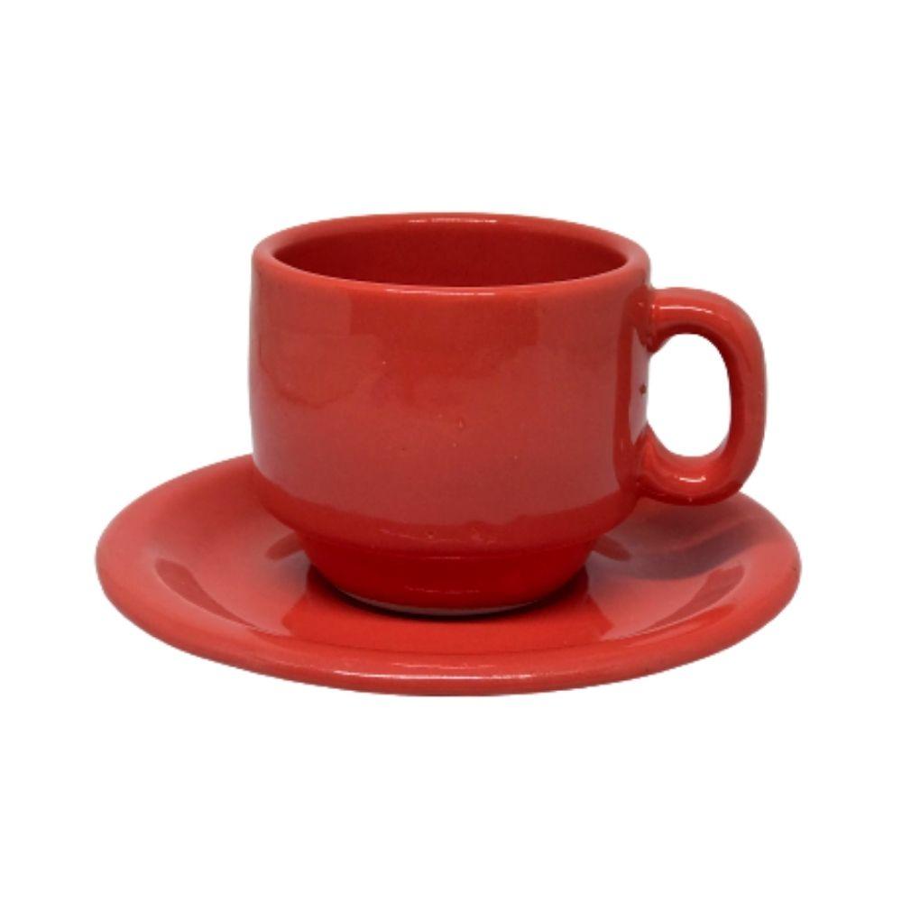 Xícara Porcelart Pires Chá Color 610