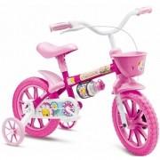 Bicicleta Colli MTB Aro 12 Flower Rosa Feminino