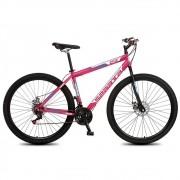 Bicicleta Colli Sparta MTB Aro 29 Freio Disco 21 Marchas Rosa