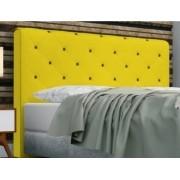 Cabeceira Giovana Casal 140cm Suede Amarelo-Bela Casa