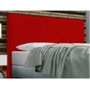 Cabeceira Giovana Solteiro 90cm Suede Vermelho-Bela Casa