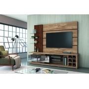 Estante Home Vetro Rústico York/Castanho para TV de até 65 - DJ Móveis