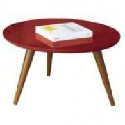 Mesa de Centro HB Móveis Sorelle Vermelho - HB Móveis