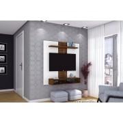 Painel Home Suspenso Smart Branco brilho/Rústico Malbec - DJ Móveis