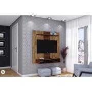 Painel Home Suspenso Smart Dorale brilho/Conhaque brilho - DJ Móveis