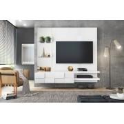 Painel Home Suspenso Turim Branco Para TV de Até 55 - DJ Móveis