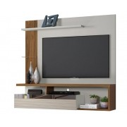 Painel Home Tijuca Off White/Nogueira - Linea Brasil