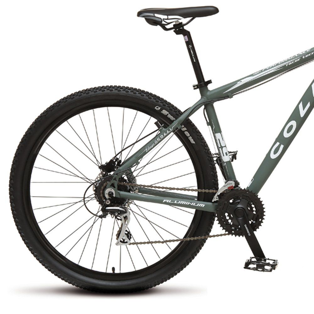 Bicicleta Colli Aluminio Aro 29 Freio Disco Kit Shimano Altus 24 Marchas Verde Militar