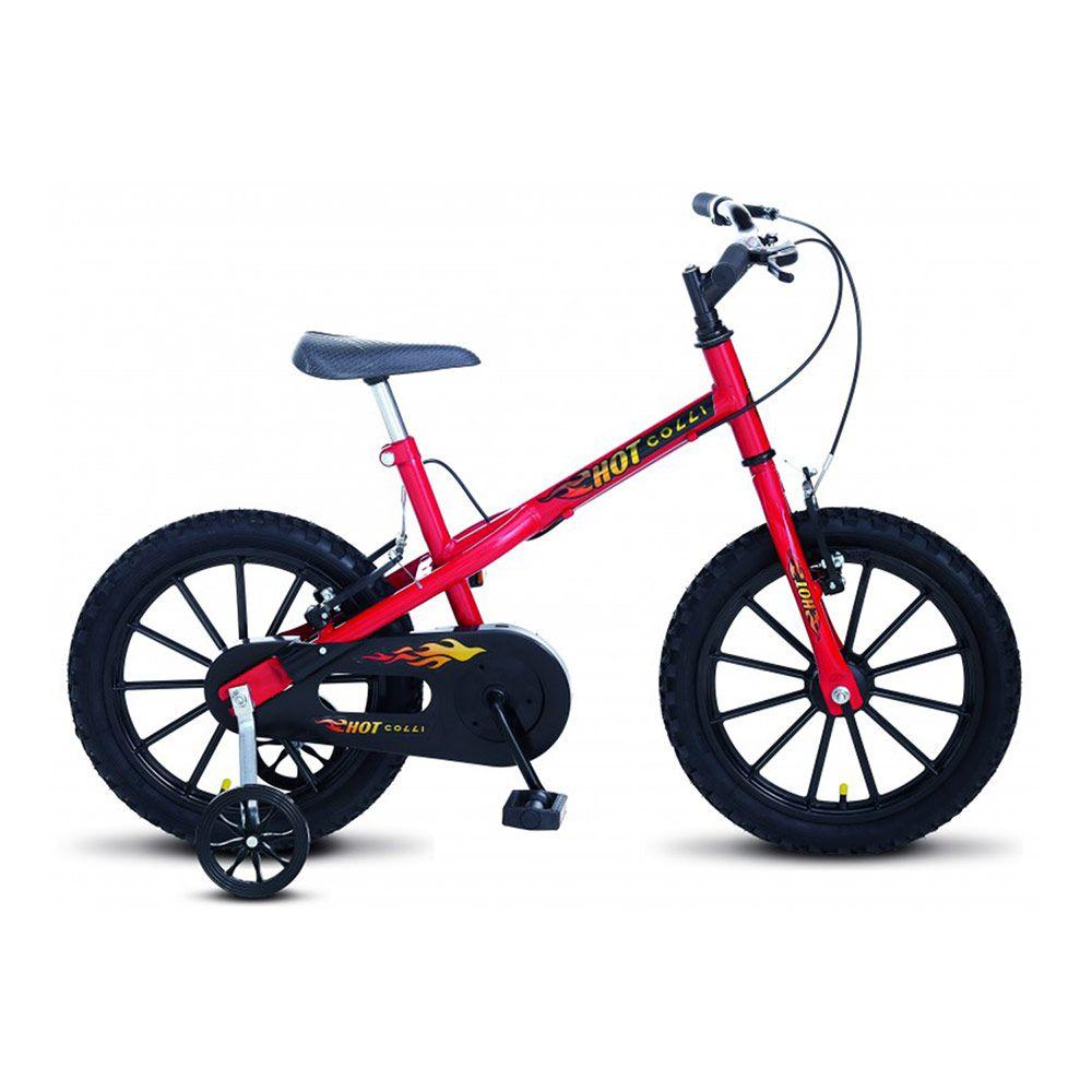 Bicicleta Colli MTB Hot Aro16 Masculino Vermelho Preto