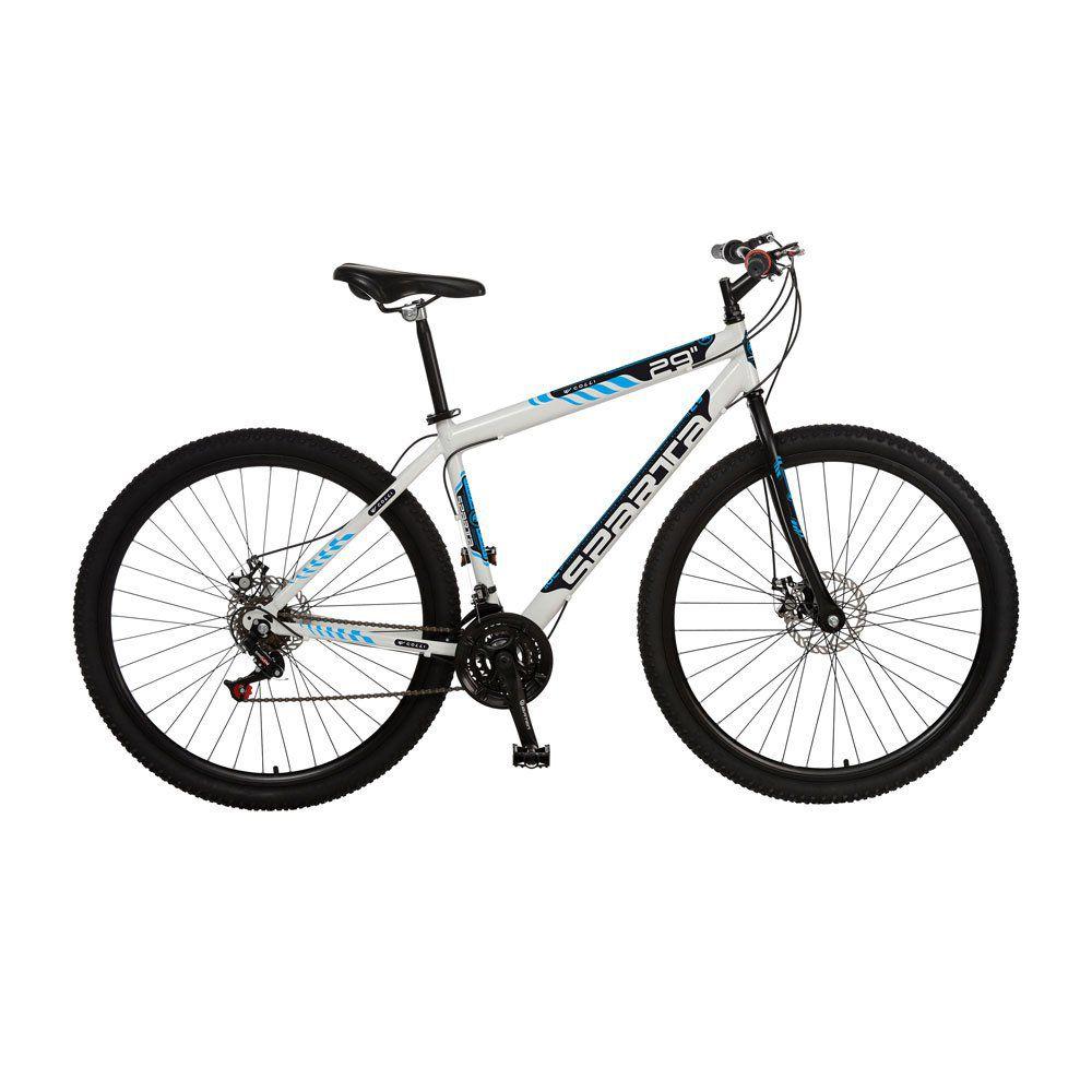 Bicicleta Colli Sparta MTB Aro 29 Freio Disco 21 Marchas Branco